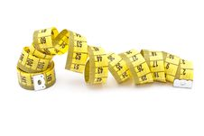 Free Curled Yellow Measuring Tape Royalty Free Stock Photos - 15307288