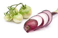 Free Sliced Young Red Onion Royalty Free Stock Photography - 15307347