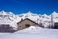 Free Brick House At Matterhorn Alps Stock Photos - 15307623