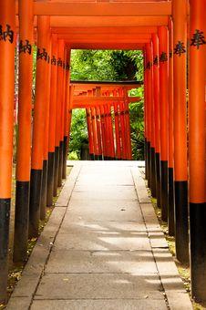 Free Japanese Archways Stock Image - 15309191