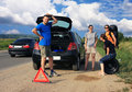 Free People Having A Flat Tire Stock Photos - 15310573