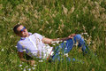 Free Happy Young Man In Grass Stock Photo - 15310680