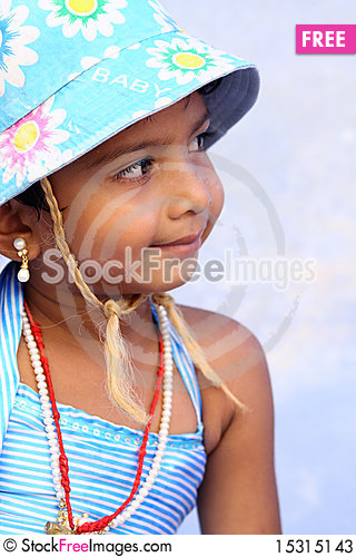 Free Smiling Cute Indian Girl Stock Photos - 15315143