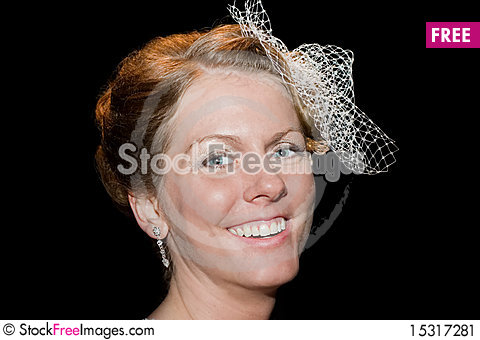 Free Closeup Of Happy Bride Stock Image - 15317281