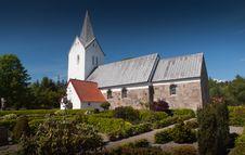 Free Danish Church In Summertime Stock Photo - 15310080