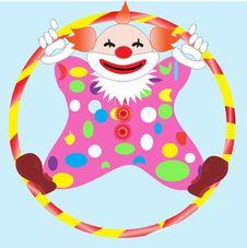 Free Clown In Circle Royalty Free Stock Image - 15310986
