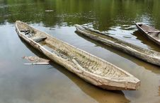 Traditional African Wooden Boat Stock Photography