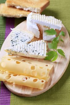 Variety Of Cheeses Stock Photo