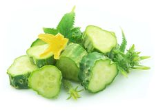 Free Cucumbers With Flower Stock Photo - 15314040