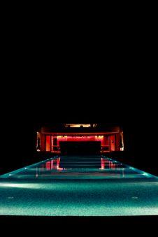Pool In Night Royalty Free Stock Photo