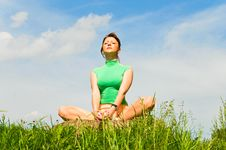 Pretty Girl Doing Yoga Royalty Free Stock Image