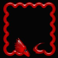 Free Red Neon Dragon Stock Images - 15316094