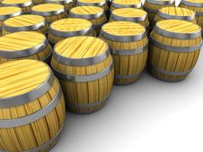 Free Barrels Warehouse Stock Photography - 15316162