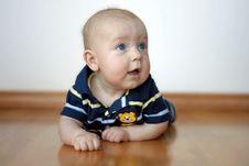 Free Cute Baby Boy On Tummy Stock Image - 15316271