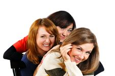Free Portrait Of Three Fresh Charming Girls With Beauti Royalty Free Stock Image - 15316596