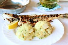 Free Roasted Fish With Potatoes Royalty Free Stock Photography - 15317697
