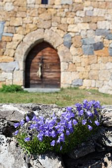 Chapel And Flowers Royalty Free Stock Photography