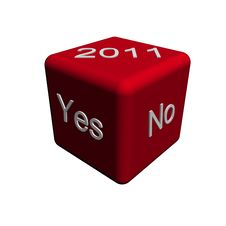 Free 2011 Yes No Dice Stock Photography - 15318972