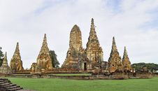 Ayutthaya   Wat Chaiwatthanaram Royalty Free Stock Photography