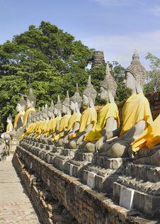 Ayutthaya   Wat Yai Chai Mongkon Stock Photo