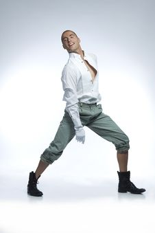Pretty Male Dancer Royalty Free Stock Photo