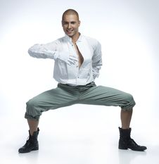 Pretty Male Dancer Stock Photography