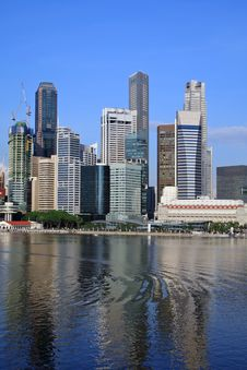 Free Singapore Skyline Royalty Free Stock Photography - 15319477