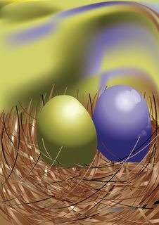 Free Egg In Nest Royalty Free Stock Photography - 15319697