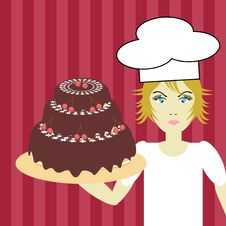 Free Cook With Cake Stock Photo - 15319790