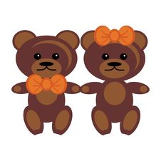 Free Pair Of Teddy Bears Stock Photography - 15319812