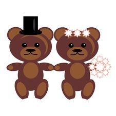 Free Pair Of Teddy Bears Royalty Free Stock Photography - 15319817