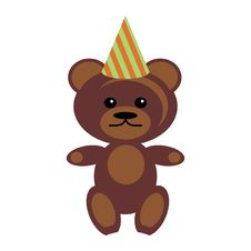 Teddy Bear In Party Cap Royalty Free Stock Images