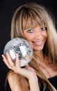 Free Smiling Blonde Holding A Sphere Stock Photography - 15327132