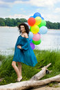 Free Happy Woman With Balloons Royalty Free Stock Photos - 15328958