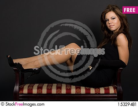 Free Girl Lying On The Couch Stock Image - 15329481
