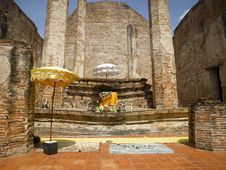 Ayutthaya  Wat Maheyong Royalty Free Stock Images