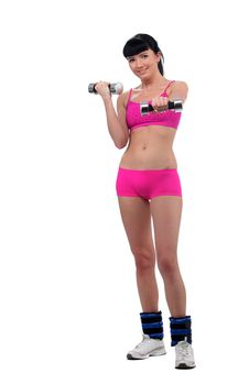 Free Girl With A Dumbbell Stock Images - 15320504