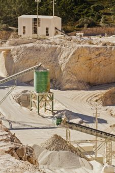 Free Sand & Stone Quarry Royalty Free Stock Photo - 15320645