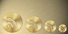 Free Rss Gold Symbol Royalty Free Stock Image - 15321226