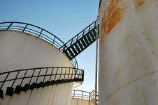 Free Abandoned Oil Silos Royalty Free Stock Image - 15321396