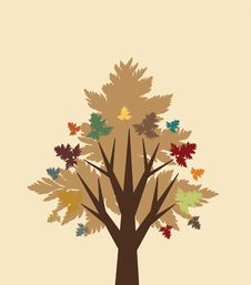 Free Abstract Autumn Tree Royalty Free Stock Photos - 15321978
