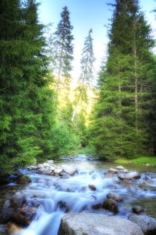 Alpine River Royalty Free Stock Photos