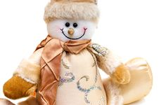 Free Snowman Toy Detail Royalty Free Stock Photography - 15323117
