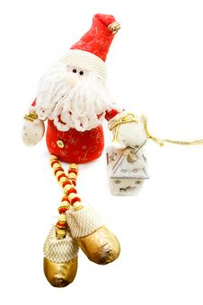 Free Santa Claus Toy And Candle Stock Photography - 15323132