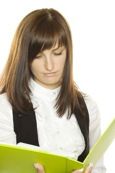 Free Businesswoman With A Folder Stock Images - 15323374