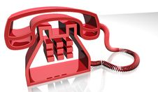 Free Red Telephone Stock Photography - 15323702