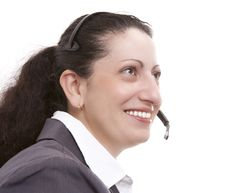 Free Woman With Headset Royalty Free Stock Image - 15323706