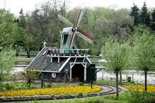 Free Dutch Windmill In The Park Royalty Free Stock Photography - 15323787