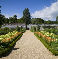 Kitchen Gardens At Forde Abbey Stock Photography