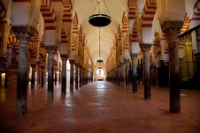 Cordoba Mosque Interiors Stock Images
